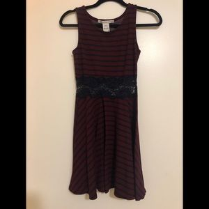 American Rag striped dress with lace cutout